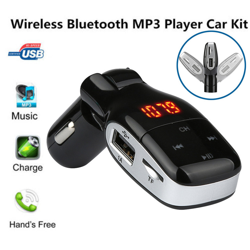 Handsfree Bluetooth Wireless Car Kit FM Transmitter Radio MP3 Player USB Charger 2017 car accessories car-styling newest
