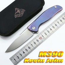 Kevin John Icebreaker F95 Flipper folding knife S35VN blade TC4 Titanium camping hunting pocket fruit knife EDC tools