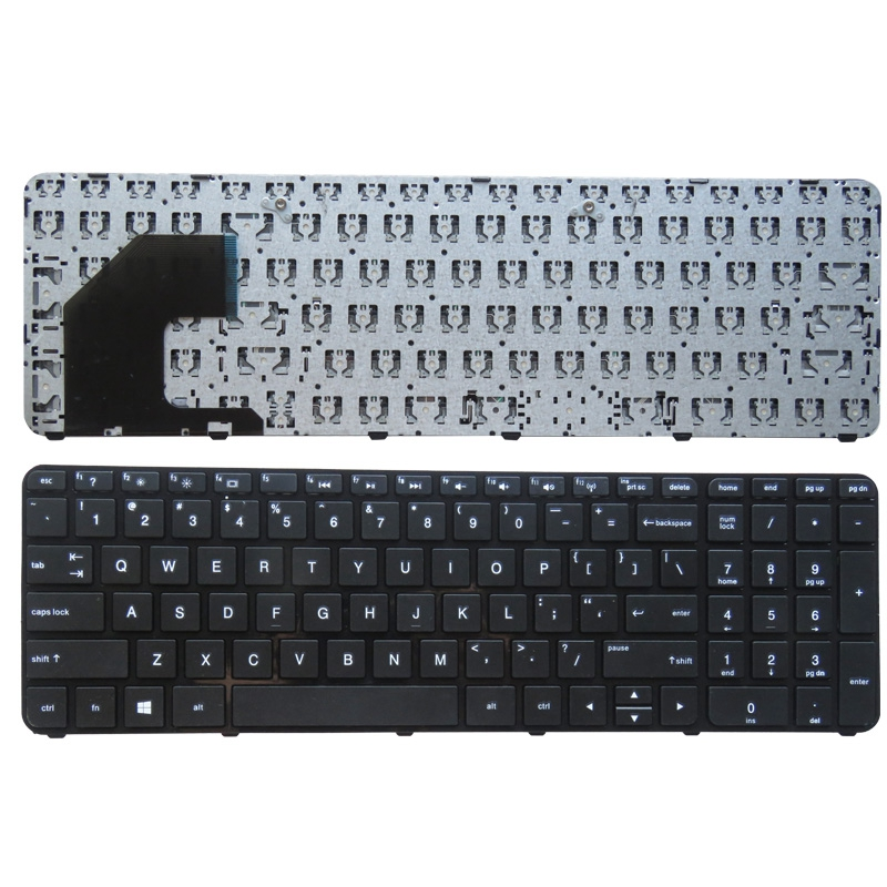 YALUZU US Keyboard For HP Pavilion 15 15B 701684-001 703915-001 U36 AEU36U00310 MP-12G63US-920 SG-58000-XUA English Laptop KB
