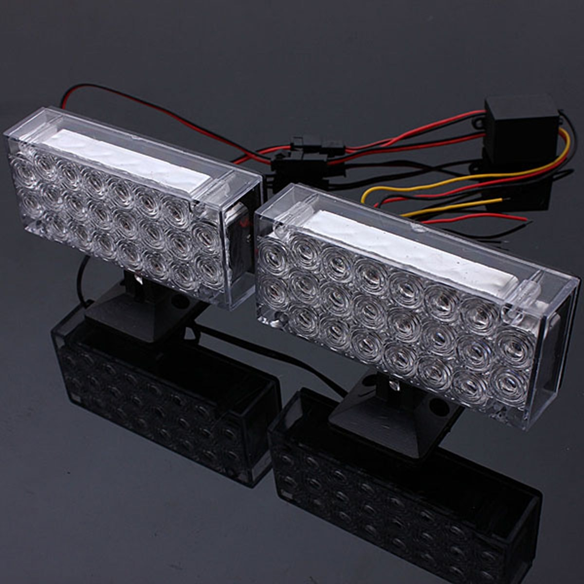 The Best Price 1 Pair  22 LED Red Flashing Emergency Light Warning Grill Strobe Flash Lamp 12V 220LM 4W - 6W nema43 best price 6 0a 12nm 115mm