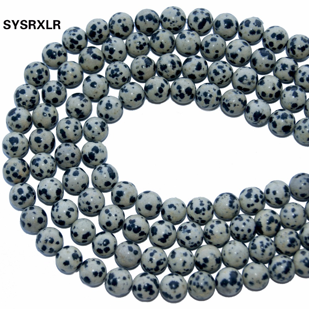Wholesale Charm Round Spots Natural Stone Beads For Jewelry Making DIY Bracelet Necklace Material 4/6/8/10/ 12 MM Strand 16