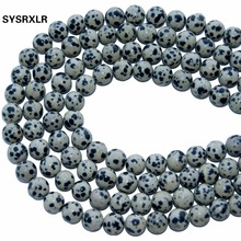 Wholesale Charm Round Spots Natural Stone Beads For Jewelry Making DIY Bracelet Necklace Material 4/6/8/10/ 12 MM Strand 16''