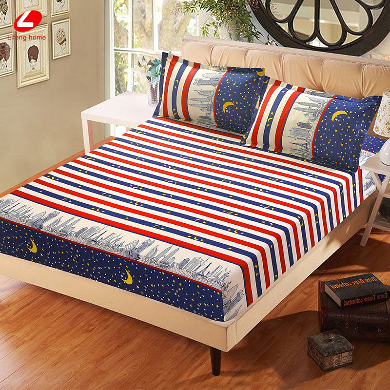 Home textile bed sheet sheet flower mattress cover printing bed sheet elastic rubber bedclothes 180*200cm summer bedspread band 52