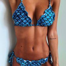 Sexy Women Bandage Mermaid Bikini Set Swimsuit Beach Wear Swimwear Bathing Suit Biquini Swimming Hot Summer