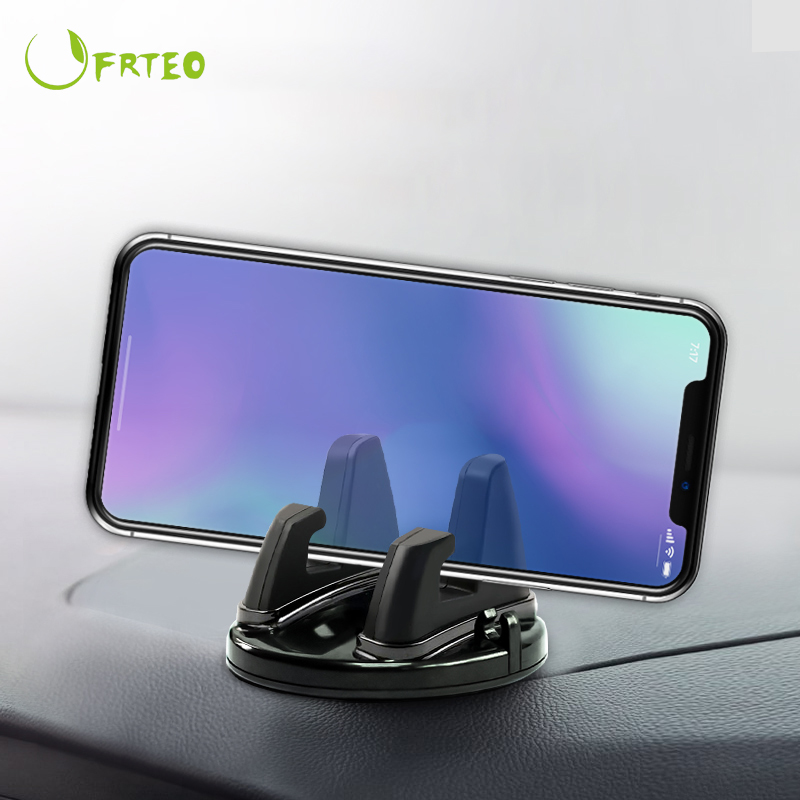 360 Degree Phone Stand Car Dashboard Non-slip Sticky Mobile Phone Mount Holder Support For IPhone Samsung Desk Stands In Car GPS