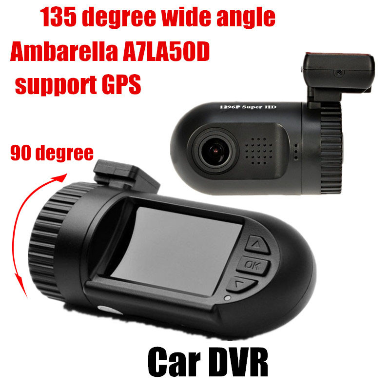 Mini 0805 1.5 pouce TFT full HD Voiture DVR vidéo enregistreur Caméra avec GPS logger Ambarella chipset 135 degrés large angle