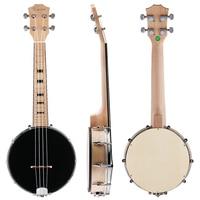 Kmise 4 String Banjo Ukulele Uke Concert 23 Inch Maple Wood 4 String Musical Instruments