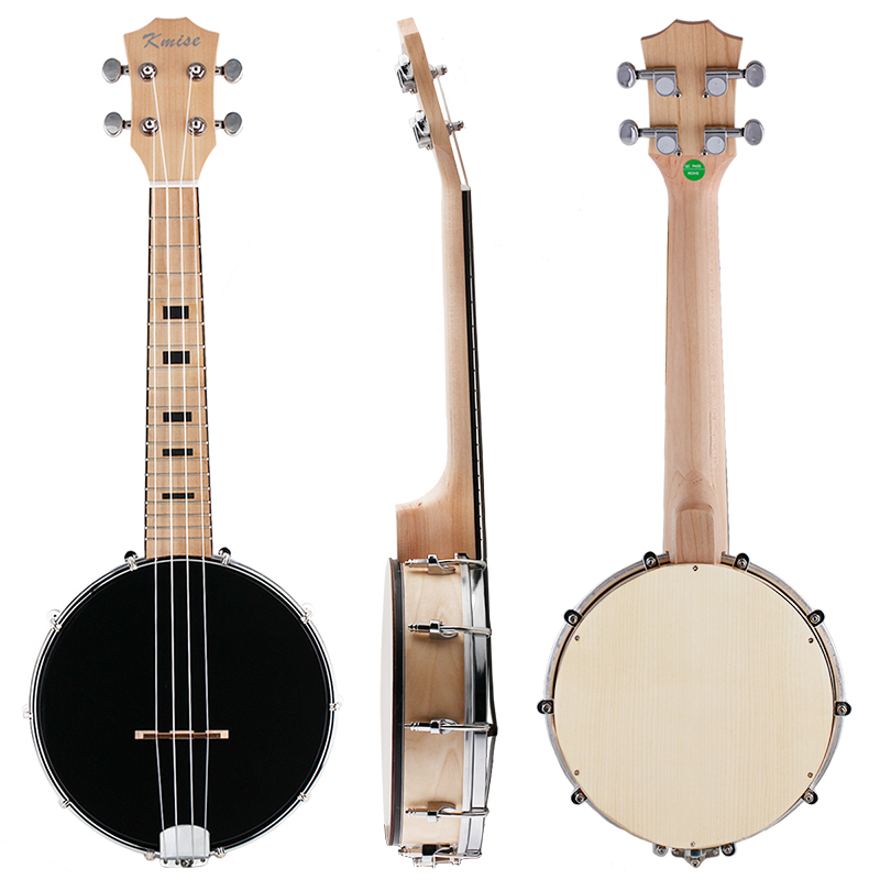 Kmise 4 String Banjo Ukulele Uke Concert 23 Inch Maple Wood 4 String Musical Instruments concert ukulele kmise uke 23 inch basswood black tint satin 4 string hawaii guitar with gig bag tuner