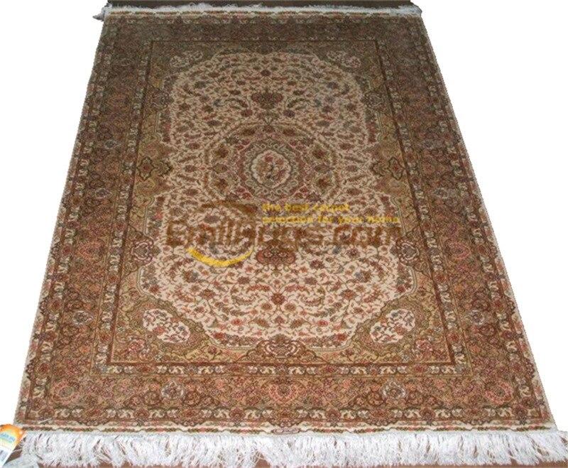 Laine ou soie persan Antique chinois fait à la main laine décor maison pour salon naturel laine de mouton tapis de Style sud-ouest - 6