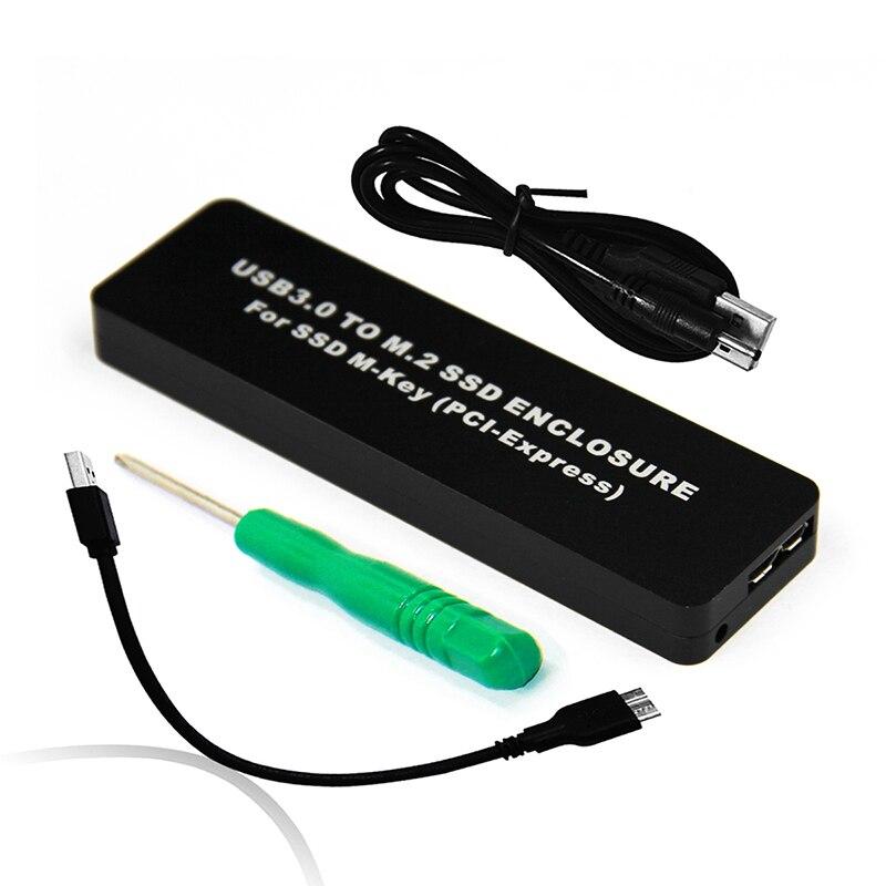 BTBcoin boîtier HDD M.2/M2 boîtier SSD/boîtier/boîte/adaptateur M.2 SSD adaptateur USB pour SSD M2 2242 USB 3.0 disque externe PCIE M-KEY