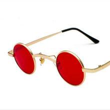 Retro Steampunk Óculos De Sol Das Mulheres Dos Homens do Metal Rodada Óculos  Espelho Lentes óculos 76844ca024