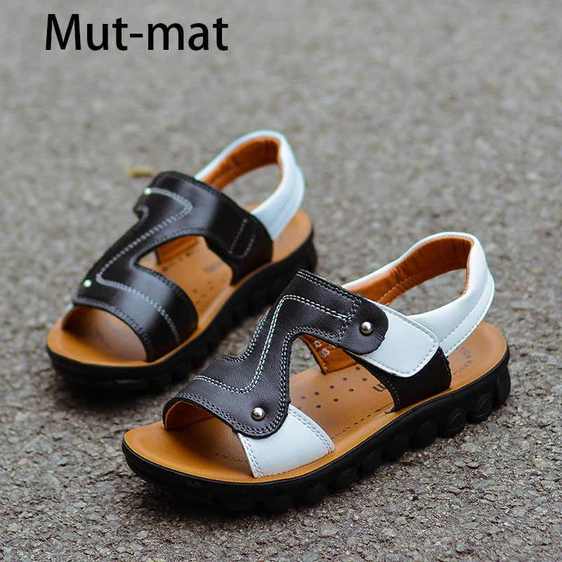 8518cabe Verano de 2019 nuevas sandalias de los niños de cuero genuino de los niños  zapatos de