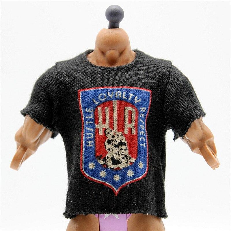 Wrestling gladiators t shirts for figures Wrestler action Figures PVC model Toys John Cena black