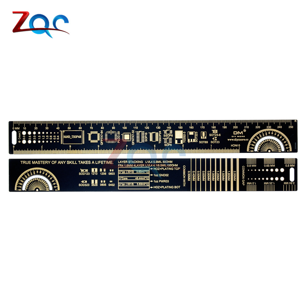 25cm PCB Reference Ruler v2 - 8 PCB Packaging Units for Arduino Electronic Engineers labview for engineers