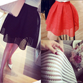 Summer Tulle Women Skirt Mini High Waist Pleated Skater Tutu Midi American Apparel Plus Size Vintage Black White Sexy MF15874
