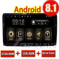 Автомобилем медиаплееров для VW Универсальный 9 ''Android 8,1 Topnavi Автомобильный мультимедийный книг с бесплатное обновление карт ПК magnitol 2 Din MP3