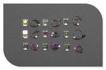 DFRobot 100% Genuine 9 Pcs Sensor Set, 5V JST ph2.0-3p hardware interface for Arduino with Analog/Digital sensor cable