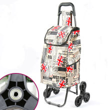 Складная тележка для покупок с колесом, утолщенная штанга, багажная тележка для скалолазания, тяжелая переносная Водонепроницаемая хозяйственная сумка
