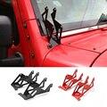 Nueva Llegada pilares A Soportes De Montaje Negro Rojo de Metal De Doble montante Soportes de Montaje para Jeep Wrangler 08 hasta
