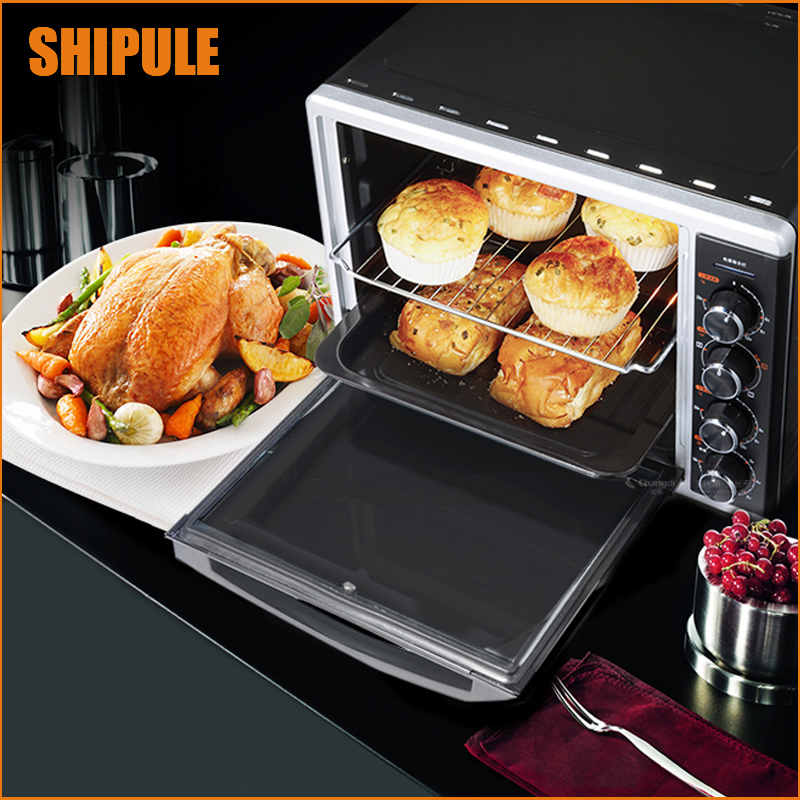 SHIPULE Multi-function Electric Ovens for Home BakingCakes52L Capacity Mini Stainless Steel Baking Oven with Hot Plates shipule multi function electric ovens for home bakingcakes52l capacity mini stainless steel baking oven with hot plates