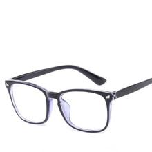 a7569837df 2018 moda claro lentes azul mujeres gafas marco hombres anteojos marco  Vintage cuadrado gafas Marco de espectáculo óptico