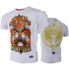 VSZAP Muay Thai Tiger Men Fitness Quick Dry Elastic Breathable T-shirt MMA Fight Sporting Bodybuilding T Shirts UFC Fighting