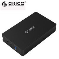 ORICO 3.5 inch HDD Enclosure Tool Free USB3.0 to SATA3.0 Hard Drive Disk box for SATA HDD/SSD Support 8TB Max Storage HDD Case