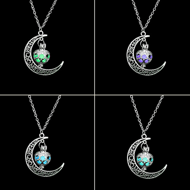 FAMSHIN New Hot Moon Glowing Necklace 4