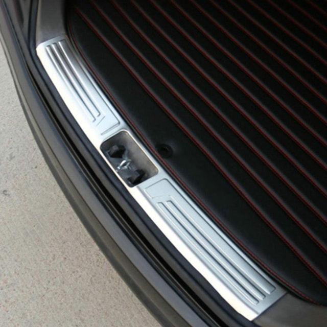 Car Rear Bumper Protector Passo Bota Protetor Do Painel Placa Tampa do Peitoril Styling Etiqueta Fit Para Hyundai IX35 2010-2015