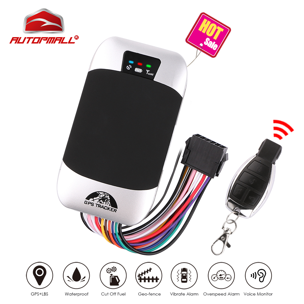 Car GPS Tracker Vehicle Tracker GSM GPS Locator Coban TK303G Waterproof IP66 Remote Control Cut Off Engine Geofence Free Web APP(China)