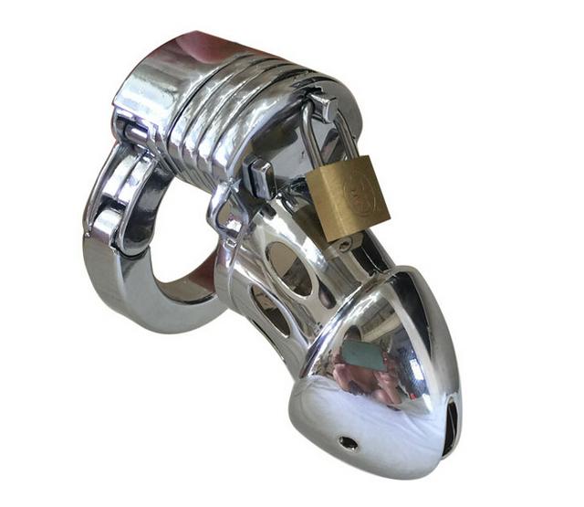 New masculino dispositivo de castidade caralho gaiola de metal ajustável cinto de castidade brinquedos do sexo para homens
