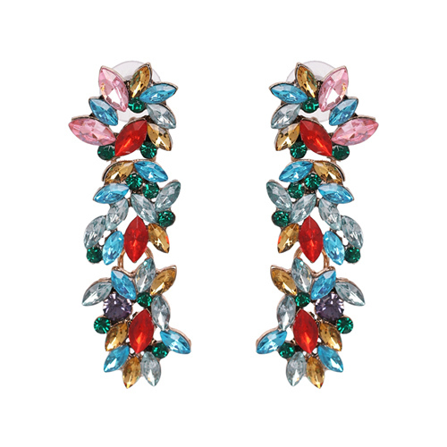 JURAN Flower Crystal Stud...