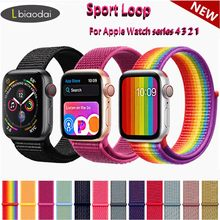 Nylon strap For Apple Watch band 44mm 40mm iWatch 4 band 42mm 38mm Sport loop belt Bracelet correa Apple watch strap 4 3 2 1(China)