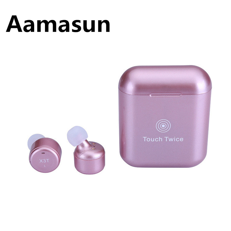 Upgrade True Wireless Earbuds TWS X3T Mini Bluetooth In ear Earphone with Charging Case for Android IOS for Xiaomi Phone 2018 new earbuds wireless bluetooth 4 2 earpiece mini sport earphone with mic charging case tws for ios android