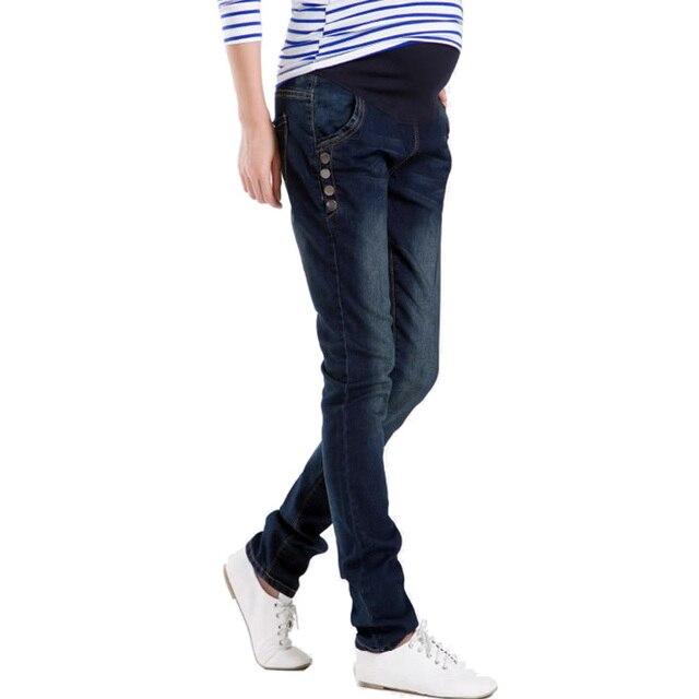 Высокое качество джинсовой беременным брюки джинсы для беременных одежда для беременных женщин беременность брюки-беременные Большой размер весну