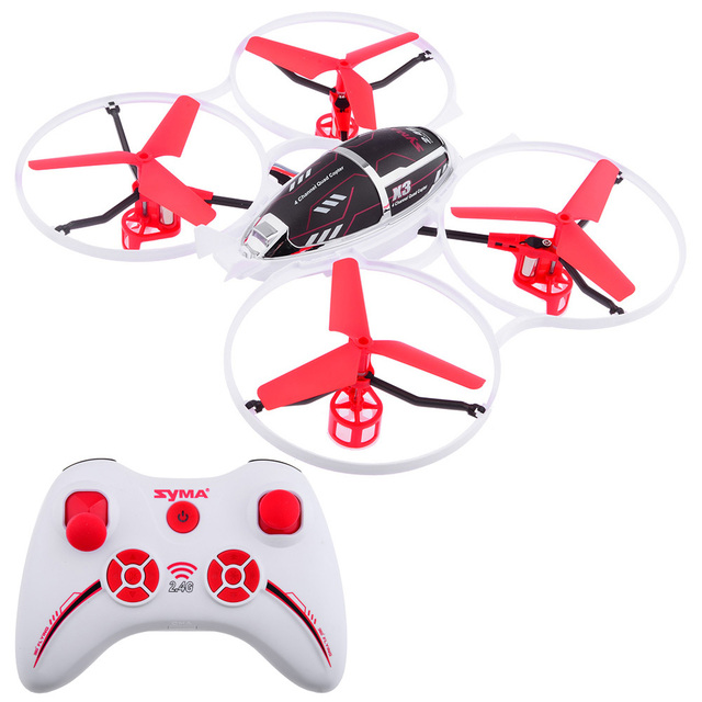 New Arrival Original SYMA RC Flying Toys 2.4G 4CH  Remote Control Helicopter X3 Red Color Quadrocopter MiniDrone UFO  Toys