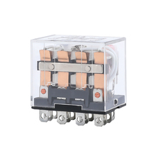 HH64P LY4NJ Mini Electromagnetic Relays AC 220V 110V DC 24V 12V 10A 14 Pin Power Relay Switch 4PDT Coil General Purpose LED
