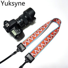 Yuksyne National Style Camera Strap Canvas Print Digital SLR Canon Camera Holder Woven Camera Handle 6 Colors Hanger STC81505