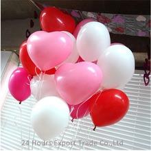 HAOCHU 10 Heart Shaped Balloon Decorations Wedding Birthday Party Ballon Love Latex baloes de festa Classic