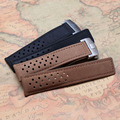 22mm High quality Watchband for luxury watches mens smooth Cowhide Leather Watch straps accessories soft with silver deployment