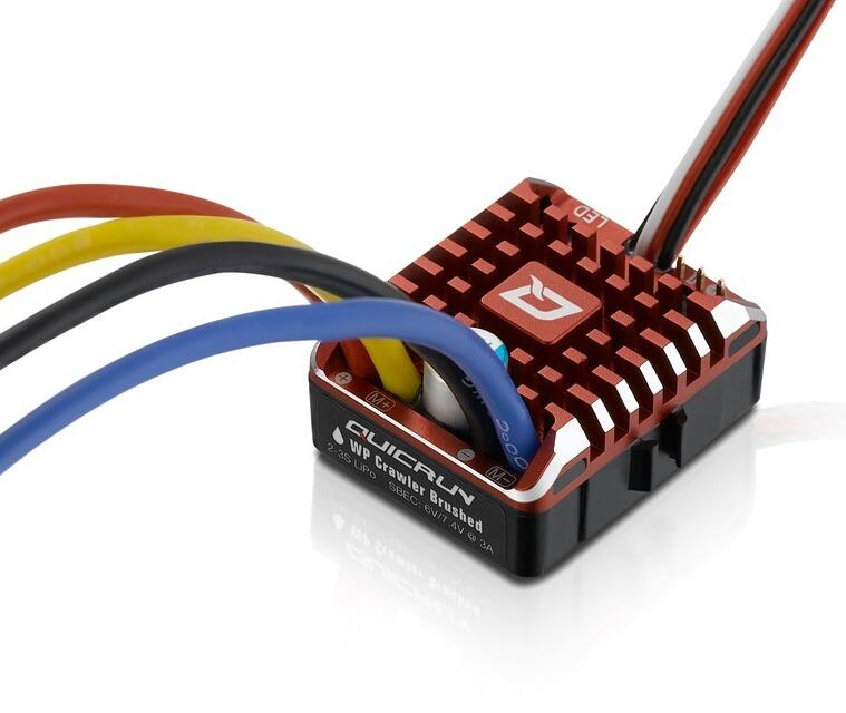 H obbywing Q Uic Run WP 1080ตีนตะขาบกันน้ำขัดESC B Uild inบีอีซี2 3วินาทีLipoกับLED P Rogramingบัตรสำหรับ1/10 1/8 RCรถ-ใน ชิ้นส่วนและอุปกรณ์เสริม จาก ของเล่นและงานอดิเรก บน   3