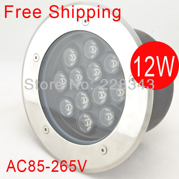 Free Shipping 12W 85-265V LED buried light flooring light LED underground lamp inground lamp IP68 CE&RoHS 2year warranty free shipping ac85 265v high power 12w led underground lights led buried lamp waterproof 2 years warranty