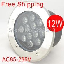 Free Shipping 12W 85-265V LED buried light flooring light LED underground lamp inground lamp IP68 CE&RoHS 2year warranty