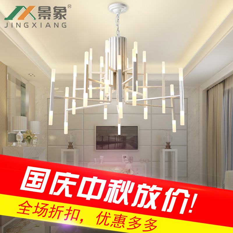 Modern living room crystal chandelier, simple modern bedroom restaurant, duplex floor, gold-plated Villa Hotel engineering light restaurant crystal lamp square postmodern simple stainless steel bronze villa luxury led modern crystal chandelier for bedroom