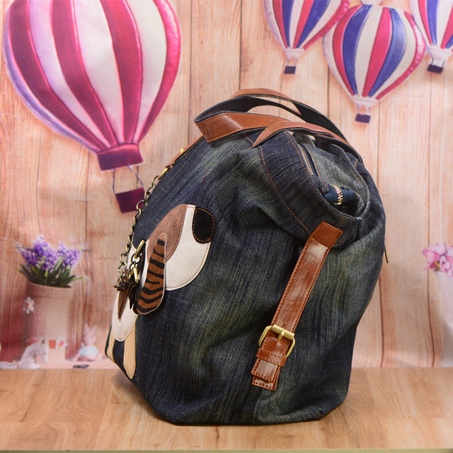 Women's Funny Dog Patterned Handbag
