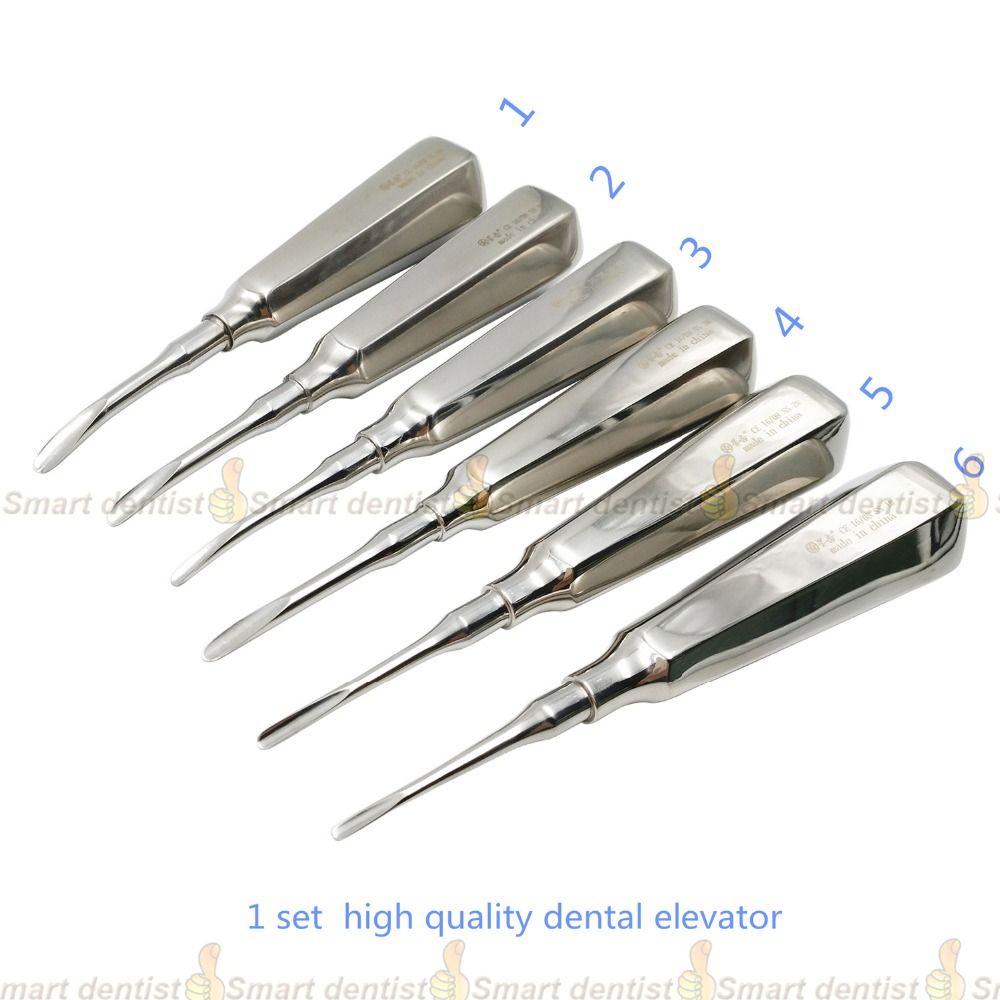 High Quality 2018 New 6 pcs/ kit dental lab dentistry dentist dental detista equipment for teeth whitening curved ROOT ELEVATOR 1kg dentistry material dental lab invisible glue b pink tooth denture tool accessory equipment kit teeth fill doctor adhesive
