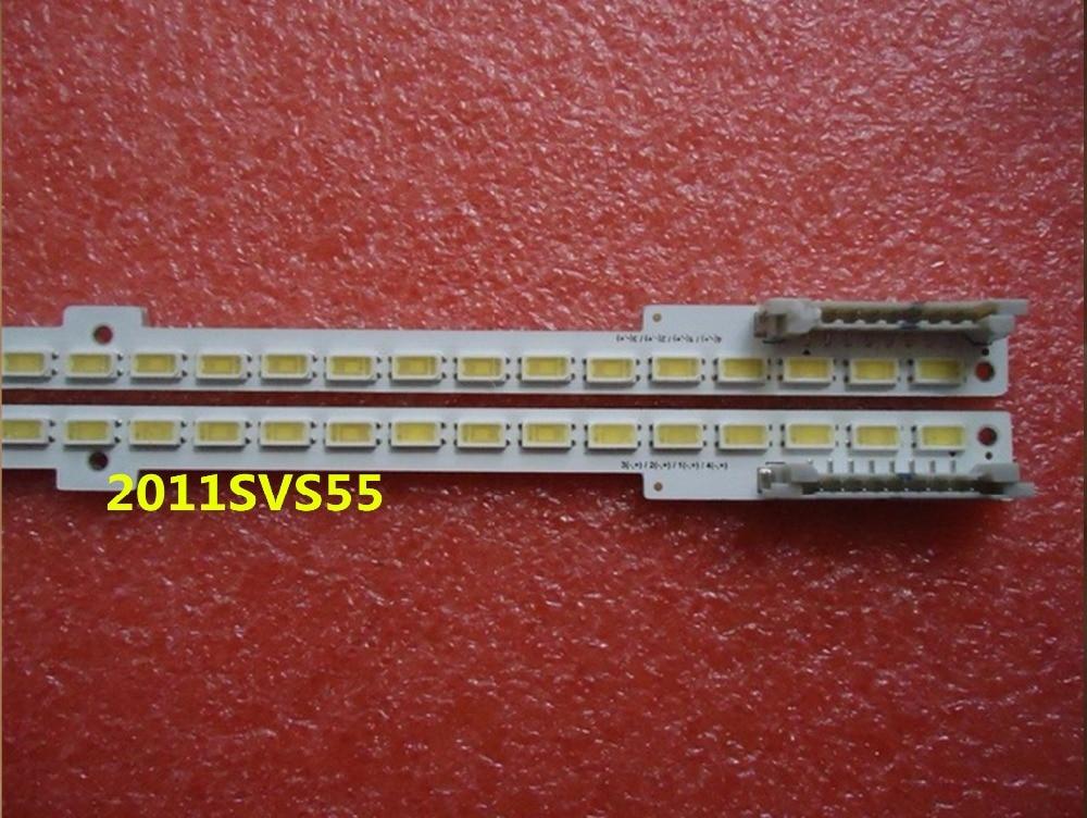 100 original 2pcs 100LED 680mm LED backlight strip 2011SVS55 RIGHT LEFT for UA55D6600WJ BN64 01664A LTJ55OHW01