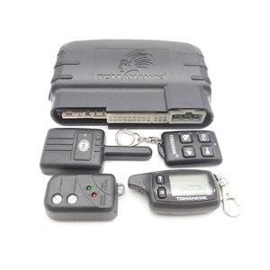 Image 2 - Système dalarme pour voiture, TW9010, avec système dalarme bidirectionnel, avec démarrage du moteur à distance LCD, Tomahawk, Version anglaise/russe