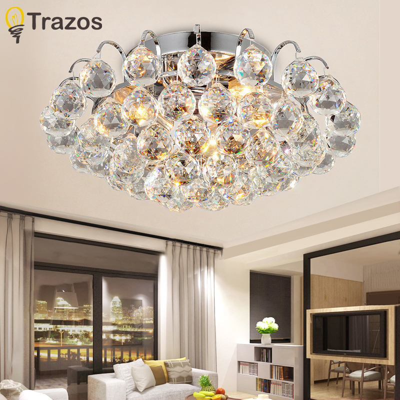 TRAZOS overflademonteret Moderne loftslampe Crystal Living Room Foyer Hjem Lights Luster Fixtures Ceiling Lights