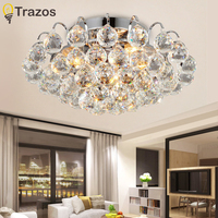 TRAZOS surface mounted Contemporary Ceiling Lamp Crystal Living Room Foyer Home Lights Lustre Fixtures Ceiling Lights
